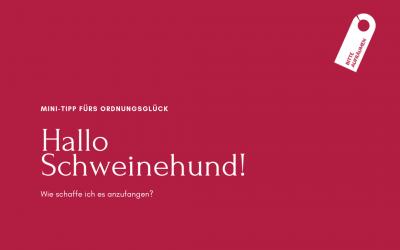 Mini-Tipps fürs Ordnungsglück: Hallo Schweinehund!